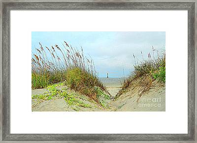 Beach View Framed Print by Kathleen Struckle