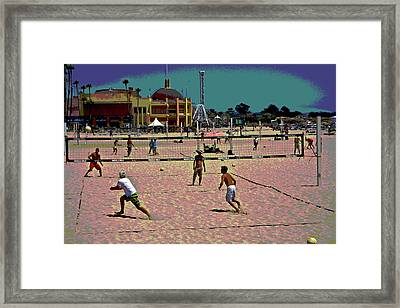 Beach Volleyball Framed Print by Tom Kelly
