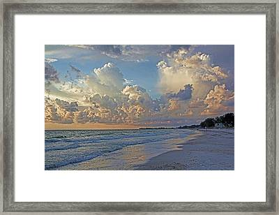 Beach Walk Framed Print by HH Photography of Florida