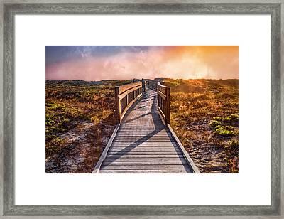 Beach Walk In The Dunes Framed Print
