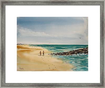 Beach Walk Framed Print by Pete Maier