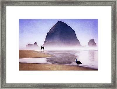 Framed Print featuring the photograph Beach Walk by Scott Kemper