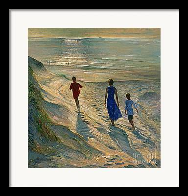 Sandy Beaches Paintings Framed Prints