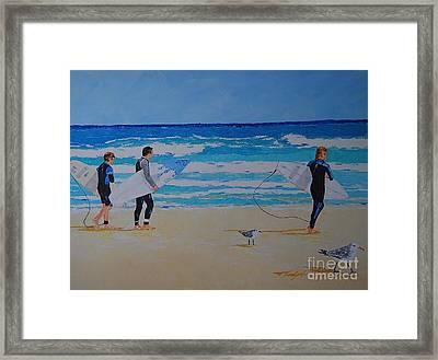 Beach Walkers  Framed Print
