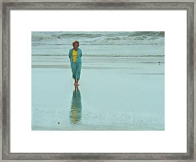 Beach Walkin' Framed Print by Laura Ragland