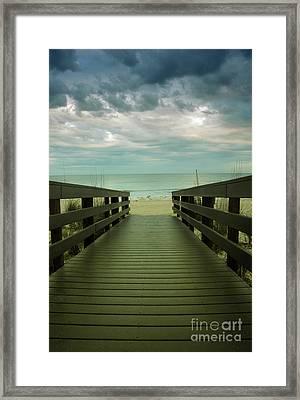 Bridge To Beach Framed Print
