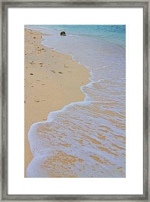 Beach Water Curves Framed Print
