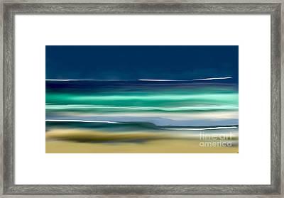Beach Wave Framed Print