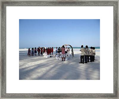 Beach Wedding In Kenya Framed Print