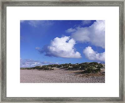 Framed Print featuring the photograph Beach With Clouds by Sascha Meyer