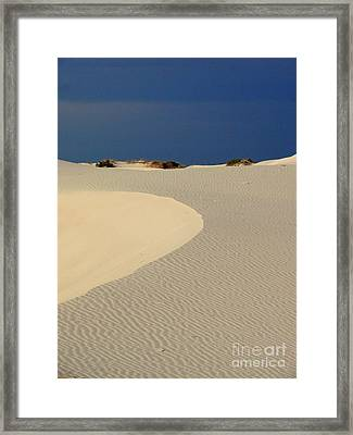 Beach With No Water Framed Print by Mark Grayden