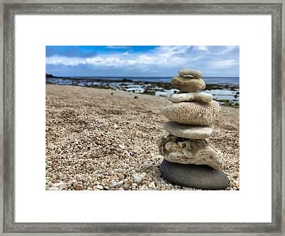 Beach Zen Framed Print