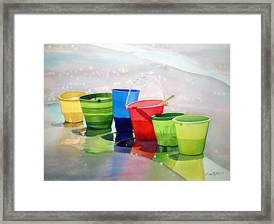 Beachbuckets Framed Print by Scott Mulholland