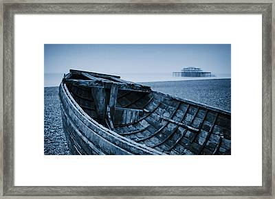 Beached At Brighton Framed Print by Tony Grider