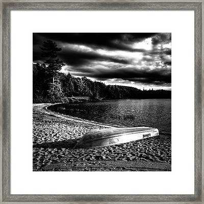 Beached At Sunset Framed Print by David Patterson