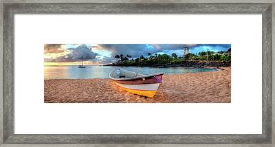 Beached Boat 4 Framed Print by Sean Davey