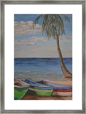Framed Print featuring the painting Beached by Debbie Baker