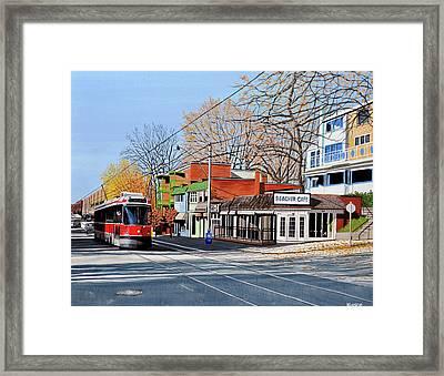 Beacher Cafe Framed Print by Kenneth M  Kirsch