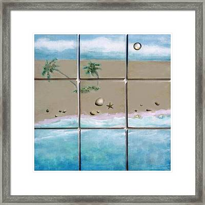 Beaches Cubed Framed Print