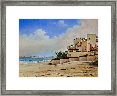 Beaches Of Cancun Framed Print by Michael Frank