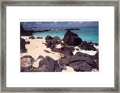 Beaches Of Hawaii Framed Print by Lori Mellen-Pagliaro