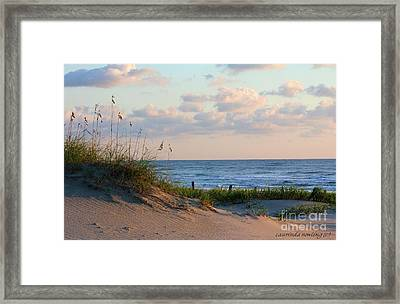 Beaches Of Outer Banks Nc Framed Print