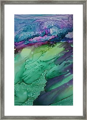 Beachfroth Framed Print