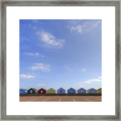 Beachhuts Framed Print