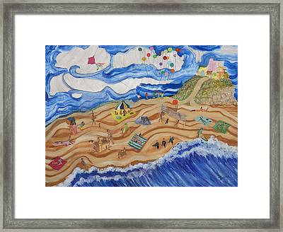 Beachin' Framed Print by Ione Citrin