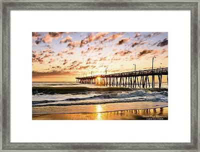 Beaching It Framed Print