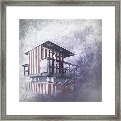 Beachlife In The Past Framed Print by Melanie Viola