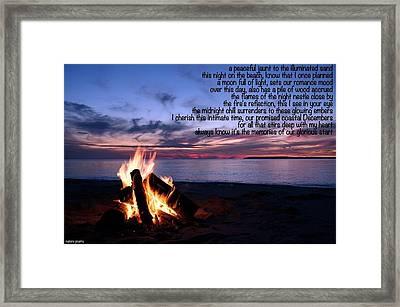 Beachside Framed Print by David Norman