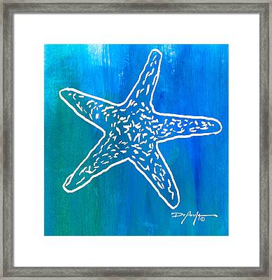 Beachside Starfish Framed Print by William Depaula