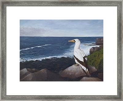 Beachside View Framed Print by Elizabeth Rieke Hefley