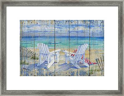 Beachview Distressed Framed Print