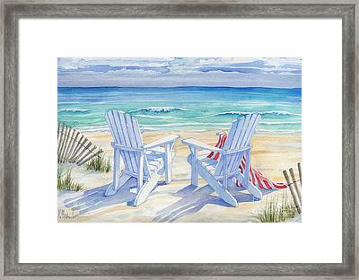 Beachview Framed Print by Paul Brent