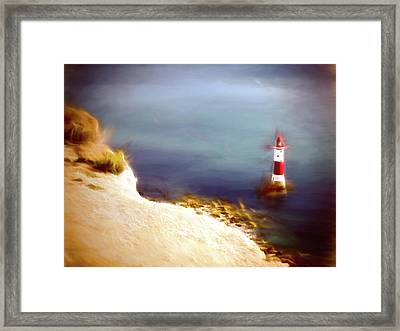 Beachy Head Lighthouse Framed Print by Sharon Lisa Clarke