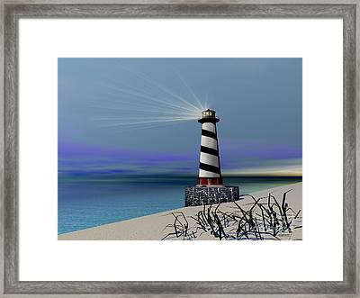 Beacon Framed Print by Corey Ford