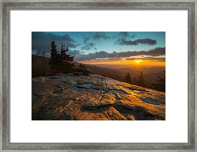 Beacon Heights Blue Ridge Park Way Framed Print
