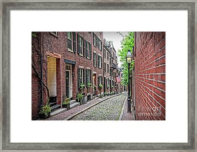 Beacon Hill - Acorn Street Framed Print by Charles Dobbs
