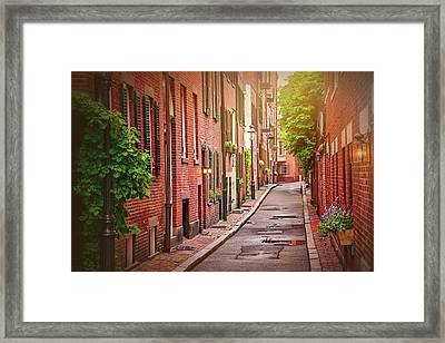 Beacon Hill Boston Framed Print