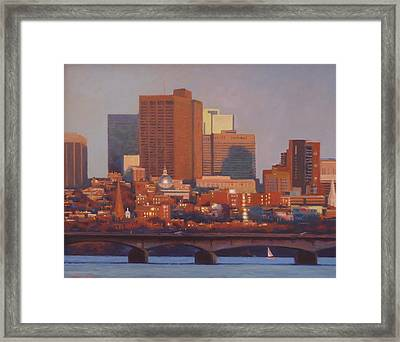 Beacon Hill Sunset Framed Print