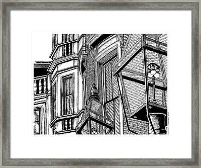 Beacon Hill Windows-boston Framed Print by Conor Plunkett