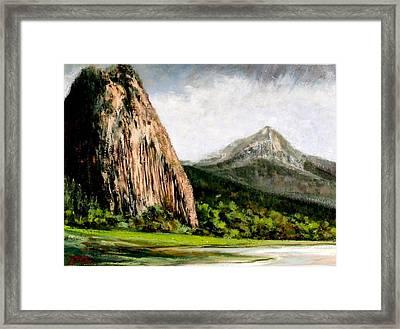 Beacon Rock Washington Framed Print by Jim Gola