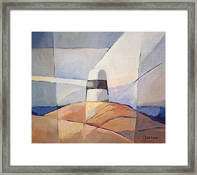 Beacon Seascape Framed Print by Lutz Baar