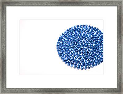 Bead Circle Framed Print by Andy Smy