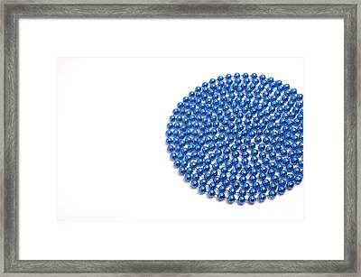 Bead Circle Framed Print