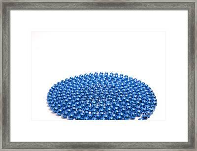 Bead Circle Ld Framed Print