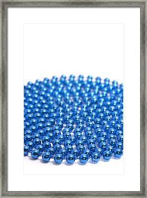 Bead Circle Plain Framed Print