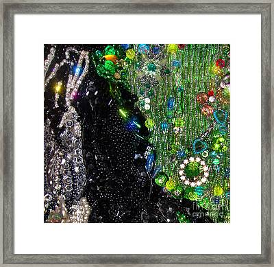 Bead Embroidery, Sample Beadwork Framed Print by Sofia Metal Queen